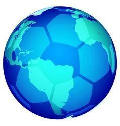 Soccerball globe vector