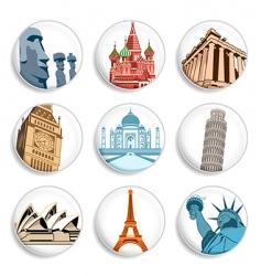 Travel destination badges vector