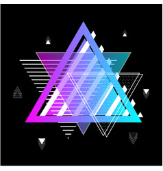 Triangles abstract geometric memphis elements vector
