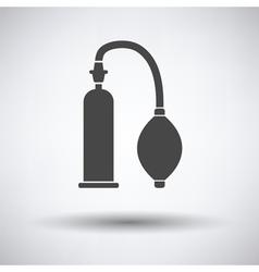 Vacuum penis machine icon vector image vector image