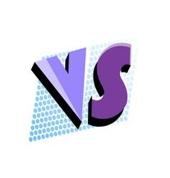 Versus logo in pop art style vector