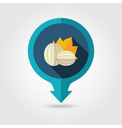 Gooseberry flat pin map icon berry fruit vector