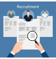 Resume files inspection vector image