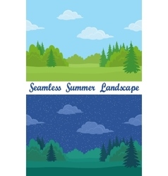 Summer forest seamless landscapes vector