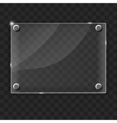 Glass frame on abstract metal background vector image