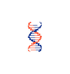 Dna molecule sign genetic elements and icons vector