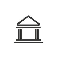 building bank safe money financial symbol vector image