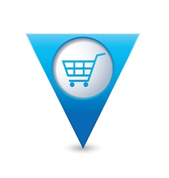 shop basket icon pointer blue vector image
