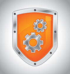 Security shield with tool settings vector