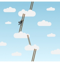 Climbing ladder vector