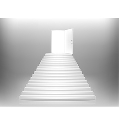 Staircase door vector