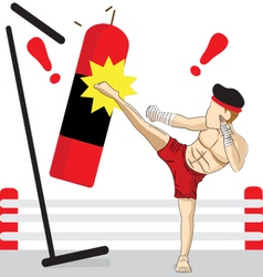 Thai kickboxing vector