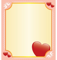 Romantic card with hearts vector