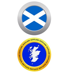 Button as a symbol map scotland vector