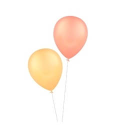 Yellow red balloons isolated background vector