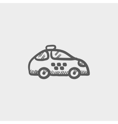 Police car sketch icon vector