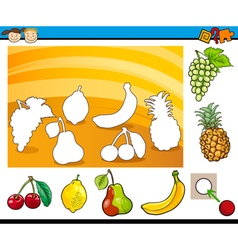 cartoon educational task for children vector image