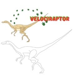 Educational game connect the dots to draw dinosaur vector