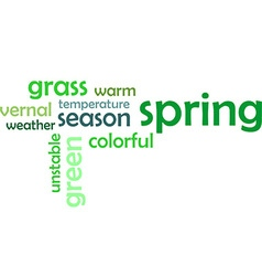 word cloud spring vector image
