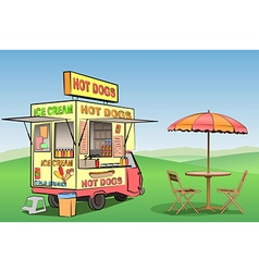 Hot Dog Ice Cream vector image