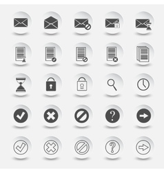 icons of documents and mail vector image