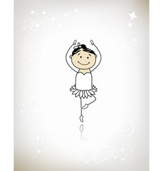 Cute little ballet dancer for your design vector