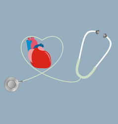 a concept for health of heart stethoscope in vector image