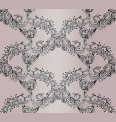 baroque damask background ornament decor for vector image vector image
