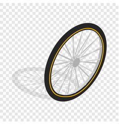 Bicycle whee isometric icon vector