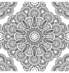 Boho doodle seamless pattern vector image