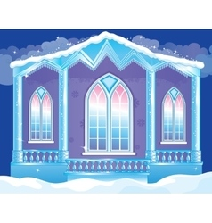 Brilliant facade of ice palace vector