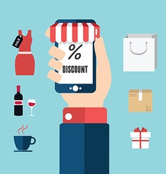 collection of modern flat and colorful shopping vector image
