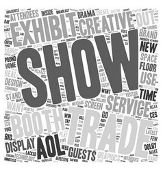 Create a Trade Show Booth That Generates Buzz text vector image vector image