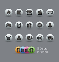 E-Shopping Icons Pearly Series vector image vector image