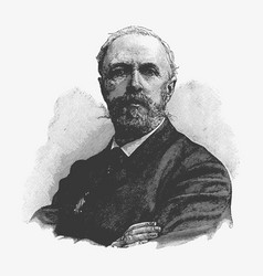 Engraving portrait of oscar ii of sweden a former vector