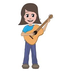 girl playing guitar vector image