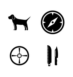 hunting simple related icons vector image vector image