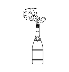 Isolated bottle of alcohol design vector