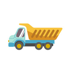 Kid toy children plaything tipper truck vector