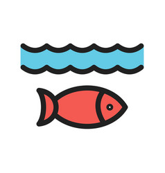 Life under water vector