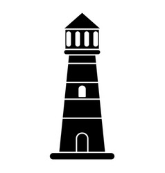 Lighthouse guide sea pictogram vector