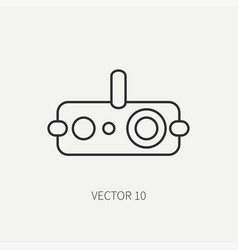 line flat military icon - night-vision vector image vector image
