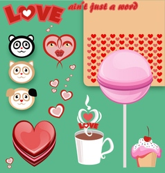 Love candy free pack vector