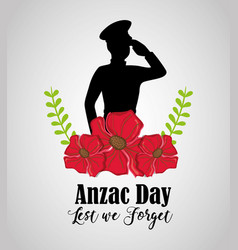 Memory soldier to anzac day memory vector