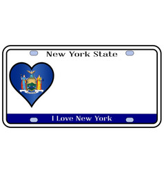 new york state license plate vector image