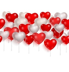 Red and white party balloons 01 vector image