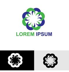Round floral spa logo vector image vector image