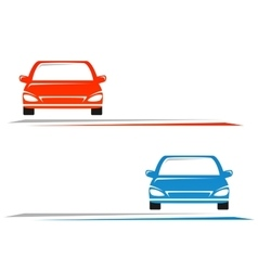 Transport background with car vector