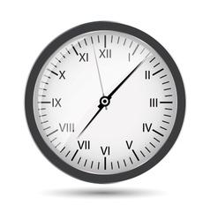 Silver watch vector image