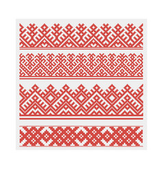 slavic ethnic ornament seamless vector image